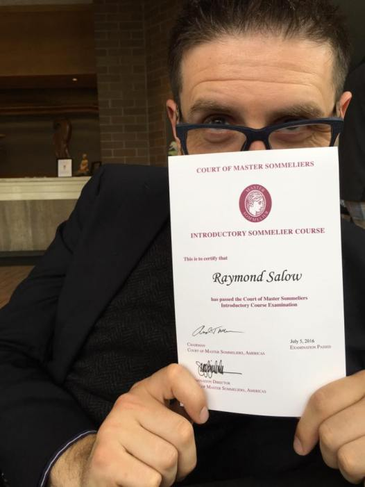 Level 1 SOMM - Completed July 2016
